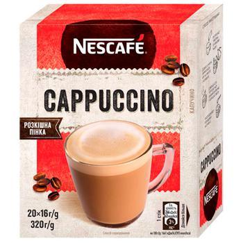 Кофе растворимый NESCAFE® CAPPUCCINO 20x16г - купить, цены на Метро - фото 1