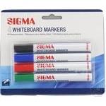 Marker pentru whiteboard Sigma 4buc - cumpărați, prețuri pentru Metro - foto 1