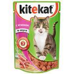 Корм для кошек Kitekat ягнёнок 85г