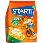 Хлопья кукурузные Start с мёдом 850г