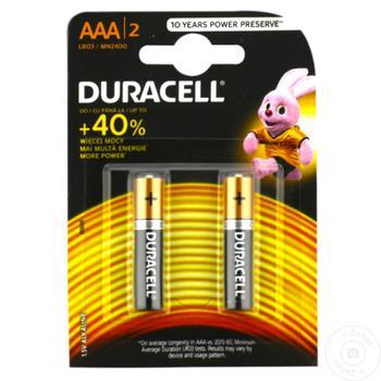 Baterie Duracell AАА Mn2400 2buc - cumpărați, prețuri pentru Metro - foto 1