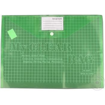 Папка-конверт W209 на кнопке ассорти A4 - купить, цены на Метро - фото 2