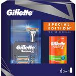 SET SENSOR GILLETTE 3REZ/75ML GEL