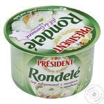 Crema de branza Rondele President usturoi/verdeata 125g