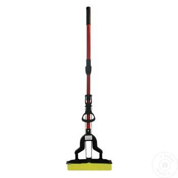 Швабра с телескопической ручкой 110см - купить, цены на Метро - фото 1