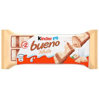 Батончик Kinder Bueno White 39г - купить, цены на Метро - фото 1