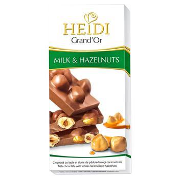 Шоколад Heidi Grand'or молочный с арахисом 100г - купить, цены на Метро - фото 1