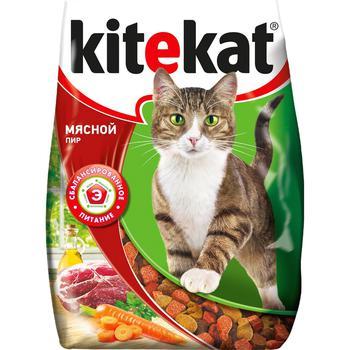 Корм сухой для кошек Kitekat мясо 350г - купить, цены на Метро - фото 1