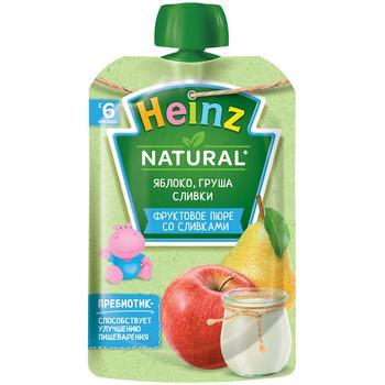 Пюре Heinz яблоко/груша/сливки 90г - купить, цены на Метро - фото 1