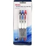 Ручки гелевые Sigma набор в ассортименте 3шт