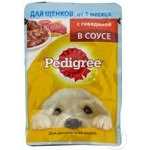 Корм для собак Pedigree junior говядина 85г