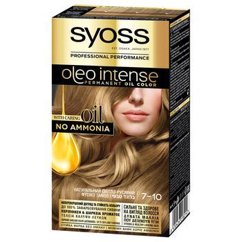 Краска для волос Syoss Oleo Intense 7-10 натуральный светло-русый - купить, цены на Метро - фото 1