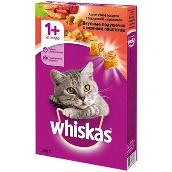 Корм сухой для кошек Whiskas говядина/кролик 350г - купить, цены на Метро - фото 1