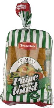 Paine pentru toast cu malt Franzeluta 350g - cumpărați, prețuri pentru Metro - foto 2