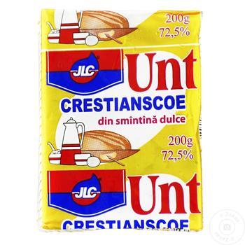 Unt Crestianscoe JLC din smantana dulce 72.5% 200g - cumpărați, prețuri pentru Metro - foto 1