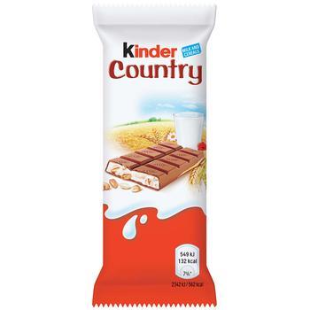 Шоколад Kinder Country молочный со злаками 23,5г - купить, цены на Метро - фото 1